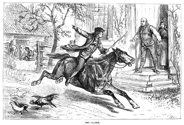 Paul Reveres Ride Print by Granger