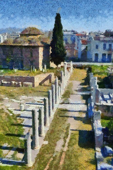Roman Market Print by George Atsametakis