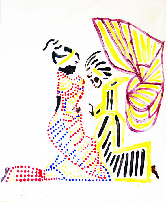 The Annunciation Print by Gloria Ssali