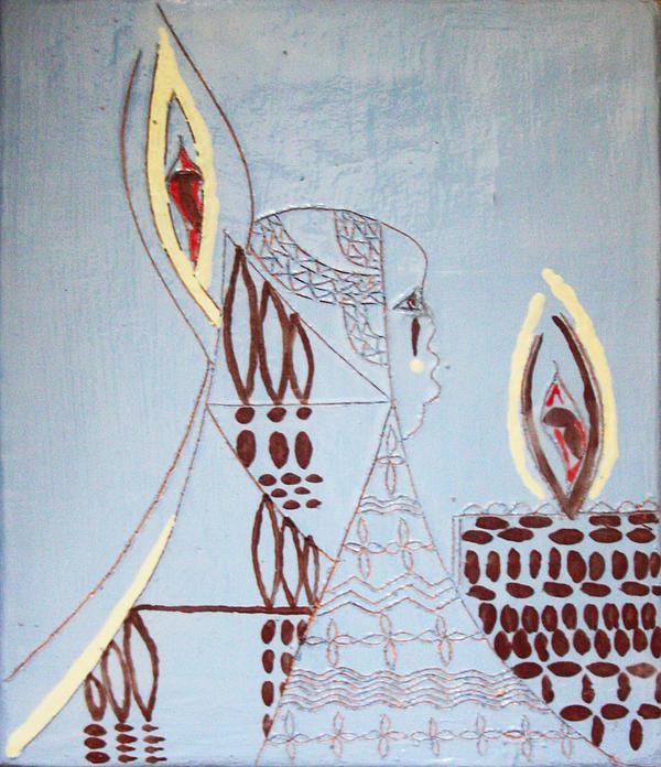 Wise Virgin Print by Gloria Ssali
