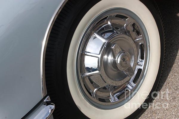 61 Corvette-grey-wheel-9236 Print by Gary Gingrich Galleries
