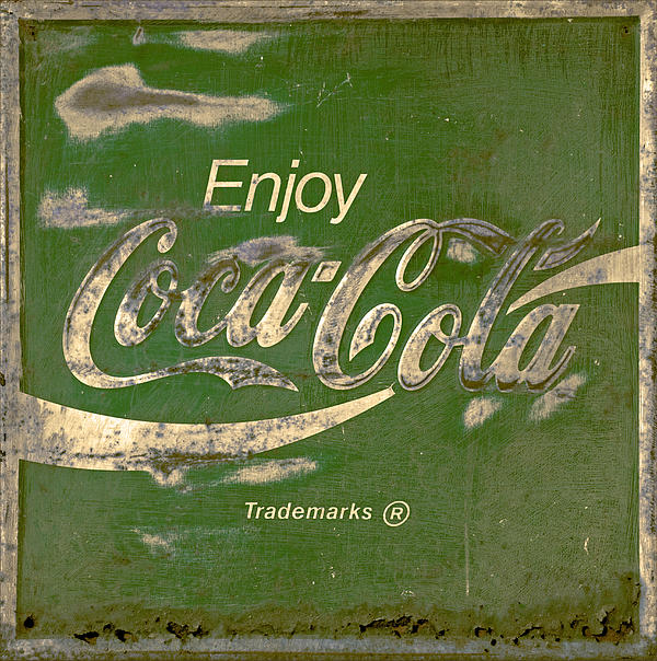 Coca Cola Sign Grungy Retro Style Print by John Stephens