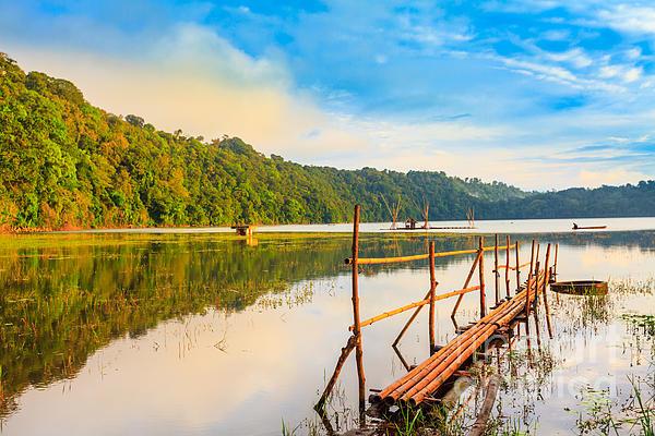 Tamblingan Lake Print by MotHaiBaPhoto Prints