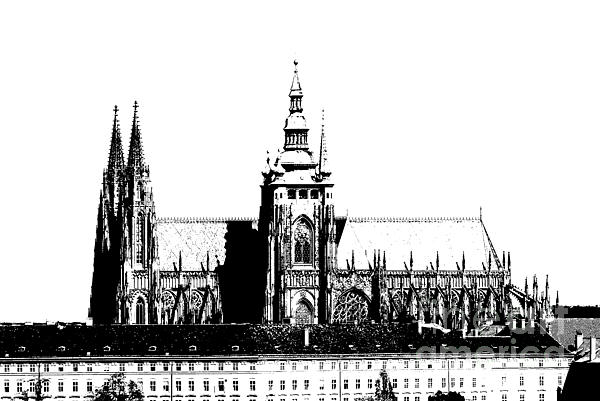 Cathedral Of St Vitus Print by Michal Boubin