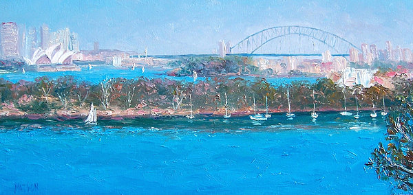 Jan Matson - Sydney Harbour the Bridge and the Opera House by Jan Matson