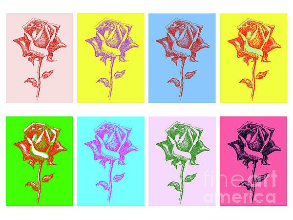 8 Warhol Roses By Punt Print by Gordon Punt