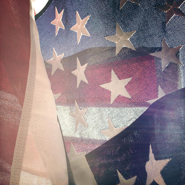 American Flag Print by Les Cunliffe
