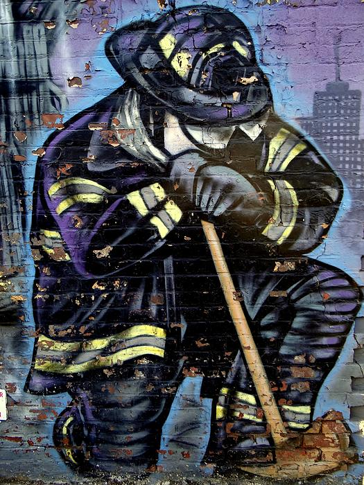 9-11 Hero Print by Ed Weidman