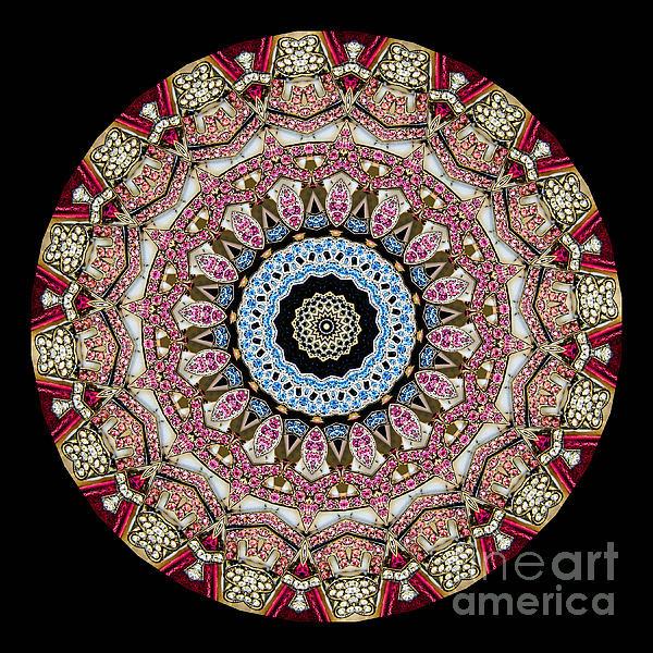 Kaleidoscope Colorful Jeweled Rhinestones Print by Amy Cicconi
