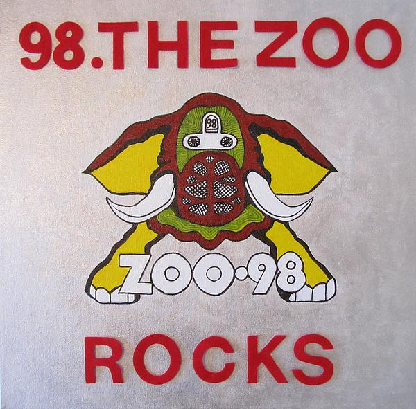 98.the Zoo Rocks Print by Donna Wilson