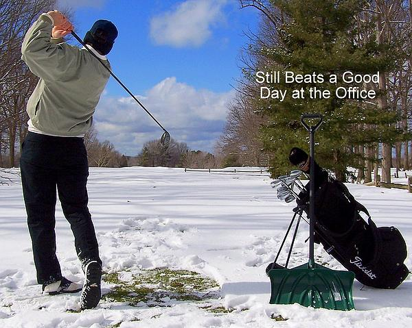 A Bad Day On The Golf Course Print by Frozen in Time Fine Art Photography