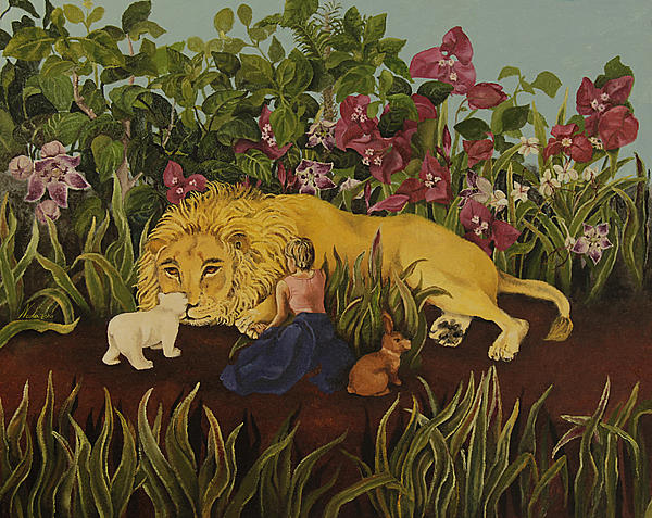 Neda Jokar - A Bear  A Father  A Daughter And Flowers
