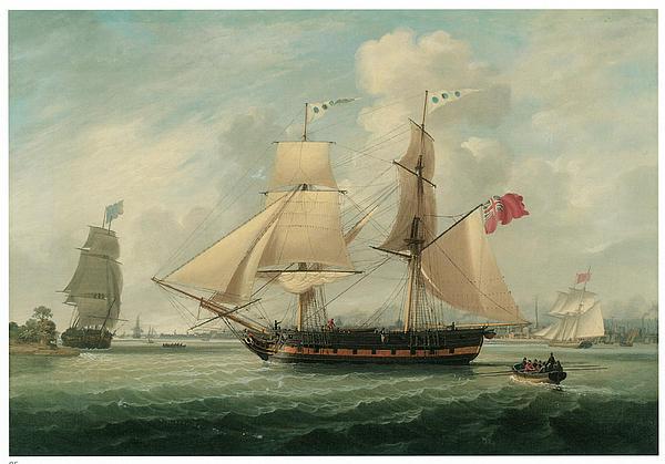 A Brig Entering Liverpool Print by John Jenkinson