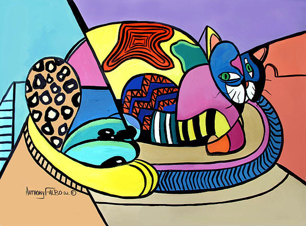 A Cat Named Picasso Print by Anthony Falbo