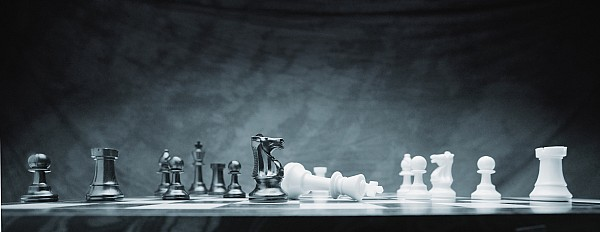 A Chess Game Print by Don Hammond