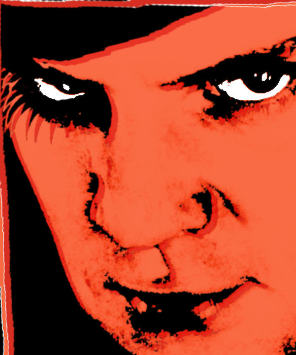 A Clockwork Orange Malcolm Mcdowell Print by Tony Rubino