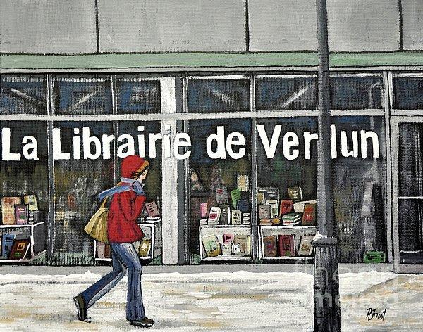 A Cold Day In Verdun  Librairie De Verdun Print by Reb Frost