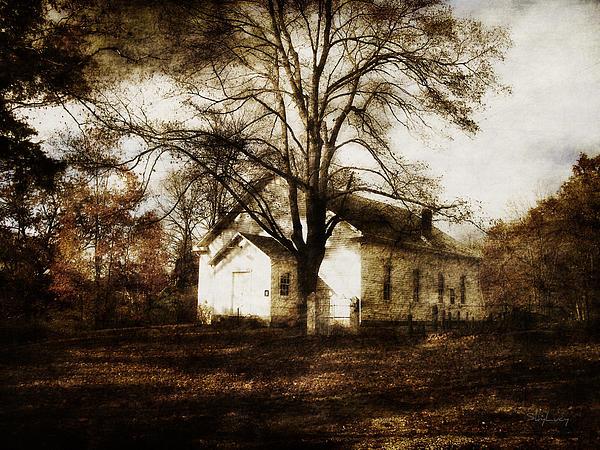 A Country Church Print by Cynthia Lassiter
