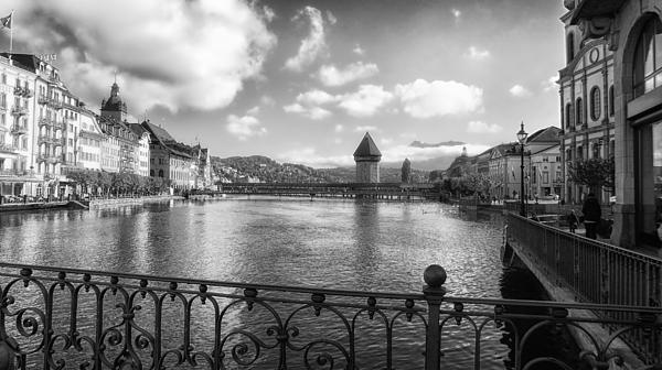 A Day In Lucerne Print by Mountain Dreams
