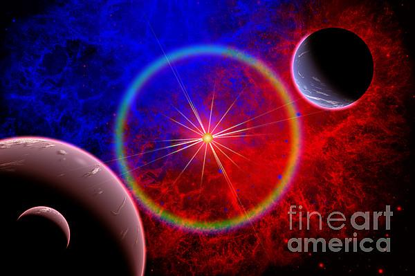 A Distant Alien Star System Print by Mark Stevenson