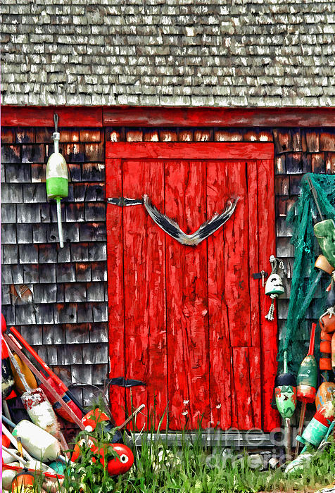 A Door In Maine Print by Darren Fisher