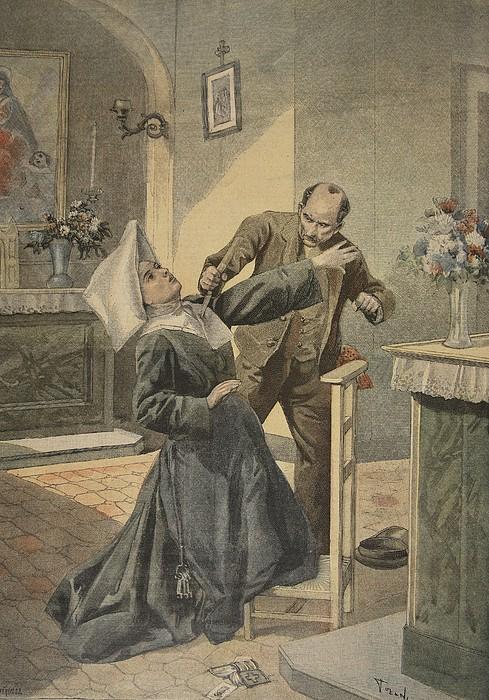 A Drama In An Asylum Assassination Print by French School