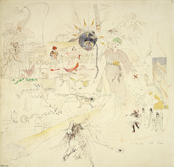 A Dream In Absinthe, 1890 Print by Charles Edward Conder