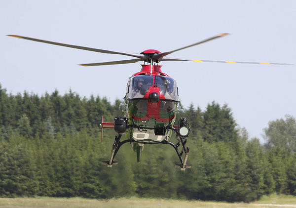 A Eurocopter Ec135 Used By German Print by Timm Ziegenthaler
