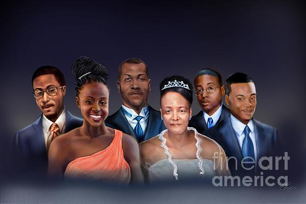 A Family Portrait Print by Reggie Duffie