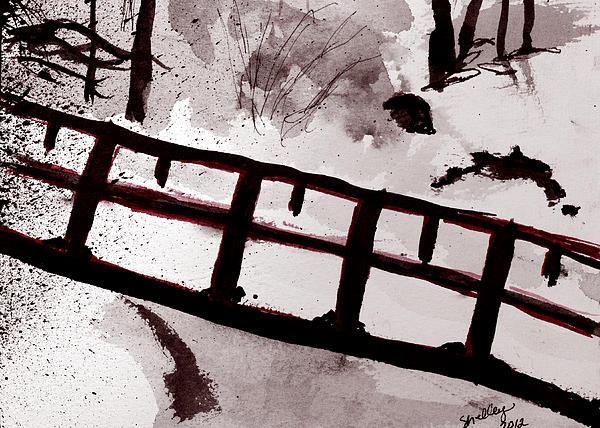 A Frozen River Print by Shelley Bain