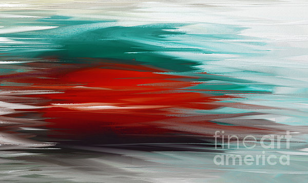 A Frozen Sunset Abstract Print by Andee Design