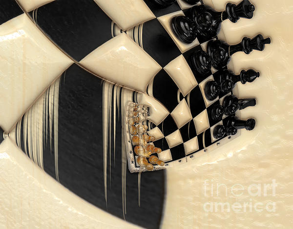 A Game Of Chess Print by Liane Wright