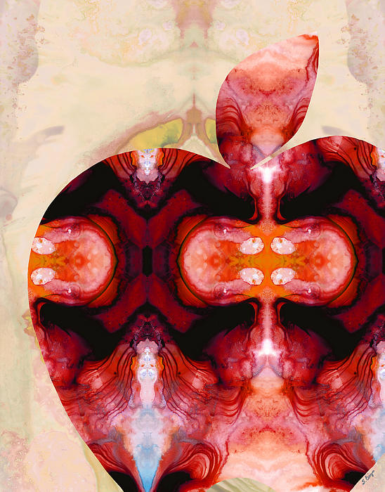 A Good Apple - Fruit Art By Sharon Cummings Print by Sharon Cummings