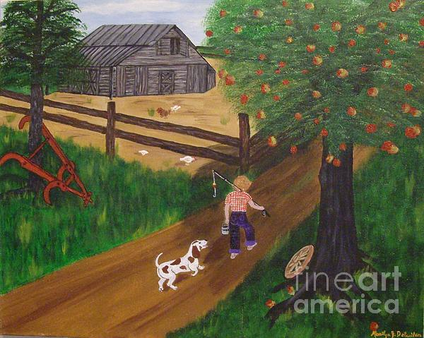 A Good Day For Fishing Print by Marilyn Detwiler