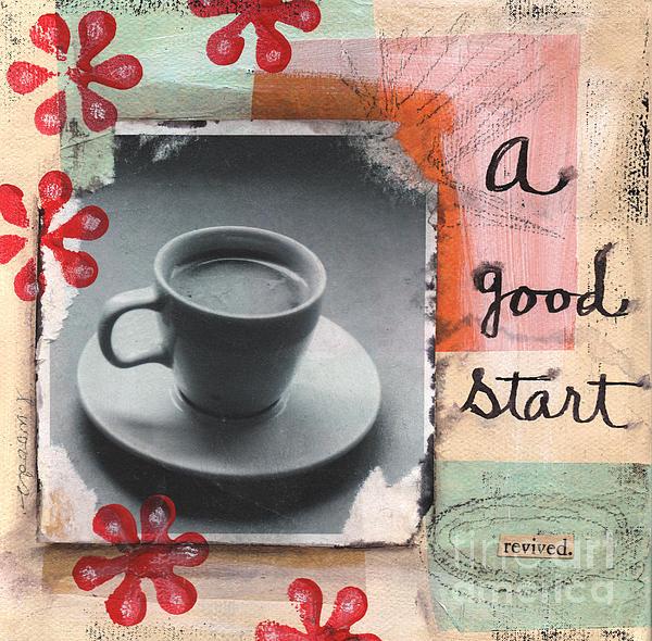 A Good Start Print by Linda Woods