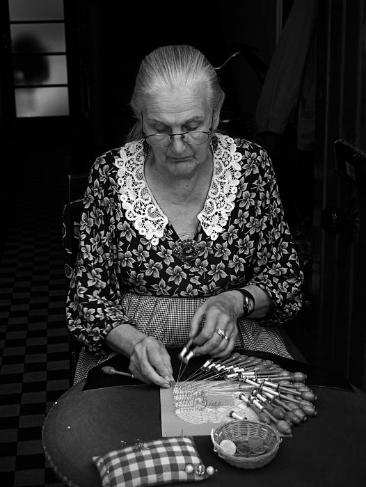 A Lacemaker In Bruges Print by RicardMN Photography