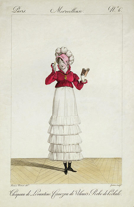 A Lady In A Levantine Hat Print by Antoine Charles Horace Vernet