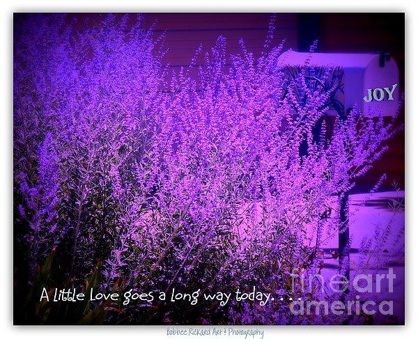 A Little Love Print by Bobbee Rickard