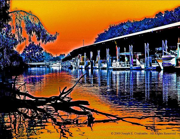 A Magical Delta Sunset Print by Joseph Coulombe