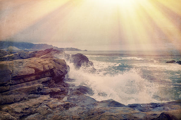 A Mysterious Morning - Point Lobos Print by Angela A Stanton