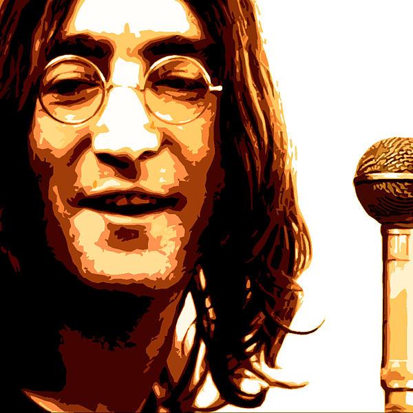 A Myth Of Peace Series 1 Lennon2 Print by Joel Loftus