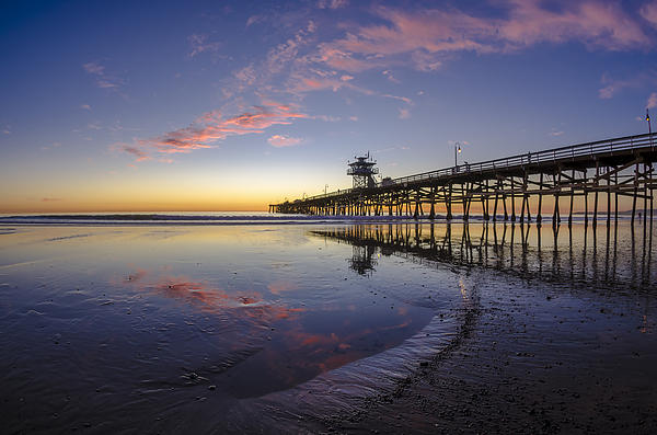A Pink Low Tide Print by Sean Foster