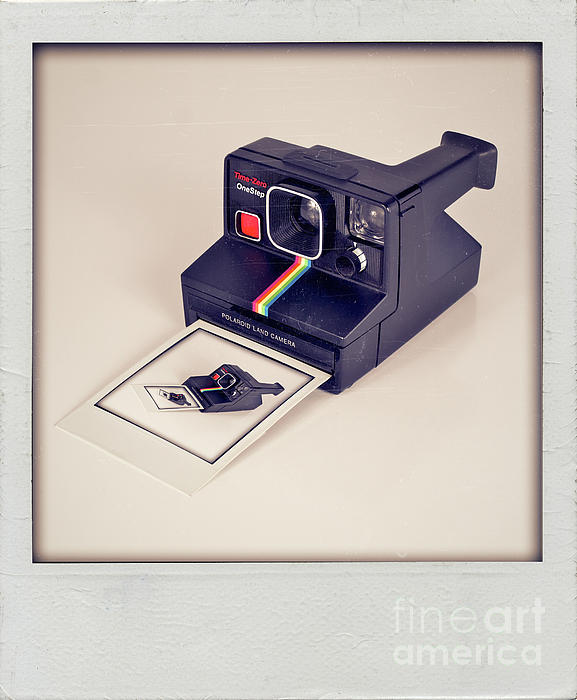 A Polaroid Of A Polaroid Taking A Polaroid Of A Polaroid Taking A Polaroid Of A Polaroid Taking A .. Print by Mark Miller