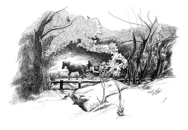 A Ride Through Central Park Print by Liz Viztes