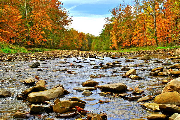 A River Runs Through It Print by Frozen in Time Fine Art Photography