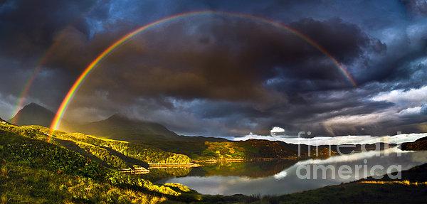 A Scottish Highland Rainbow Kylesku Print by John Farnan