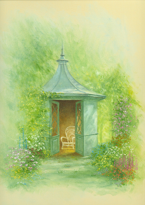 A Seat In The Summerhouse Print by Garry Walton