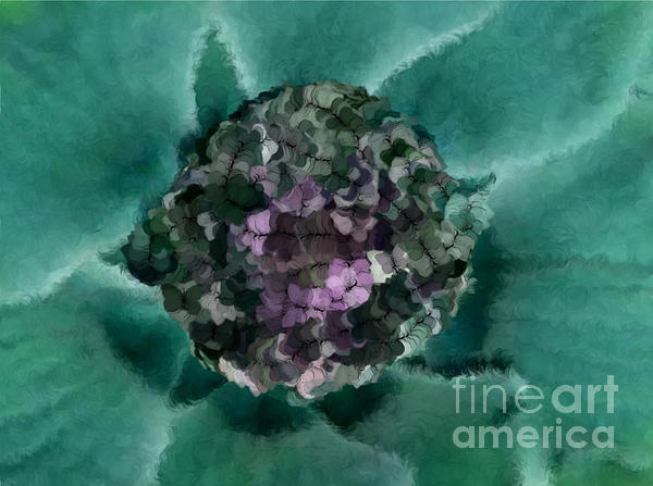 A Sky Full Of Lighters Teal Purple Print by Holley Jacobs
