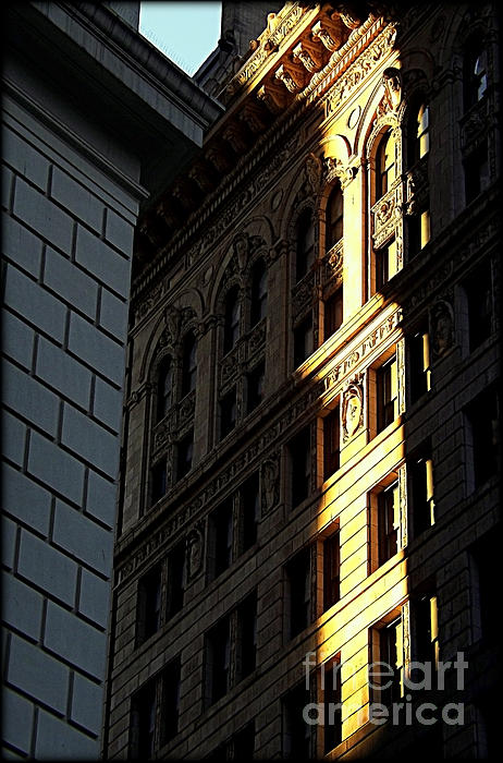 A Sliver Of Light In Manhattan Print by James Aiken