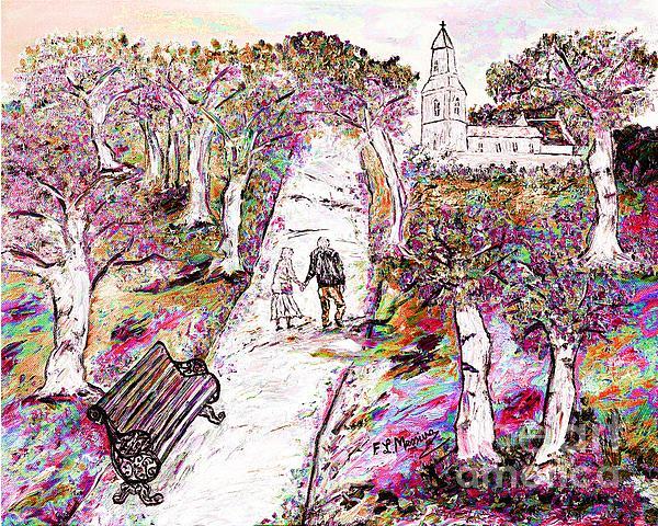 A Stroll In Autumn Print by Loredana Messina